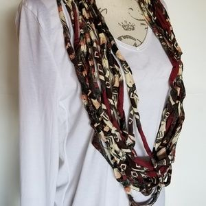 Unique rope style necklace scarf multi patterns